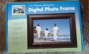 """Digital Picture Photo Frame Black 13.3"""" Widescreen ADS Advanced Design Systems"""