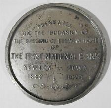 Old 1920 Souvenir Coin / Medal OPENING OF FIRST NATIONAL BANK Newton Iowa IA