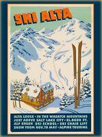 Ski Alta Salt Lake City Utah United States Vintage Travel Advertisement Print