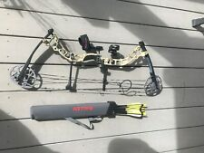 Rarely Used Diamond Prism Compound Bow With 6 Arrows, Release and Quiver
