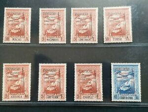 PORTUGAL COLONIES 1939 AIRMAIL New York Exposition overprint set 8 MLH