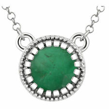 "Emerald ""May"" 18"" Birthstone Necklace In 14K White Gold"