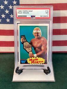 1985 TOPPS WWF #16 HULK HOGAN RC PSA GRADED 7 NEAR MINT RAZOR SHARP CORNERS 🇺🇸