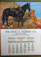 Pinup Cowgirl 1952 20x27 Poster/Advertising Calendar-Woman & Horse - Black Magic