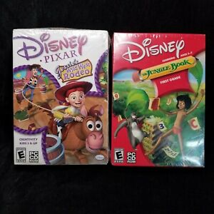 Disney The Jungle Book Learning PC CD 1st Grade and Pixar's Wild West Rodeo