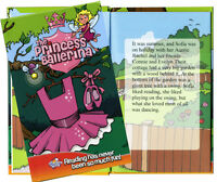 Personalised children's story book PRINCESS BALLERINA  Kids own name and friends