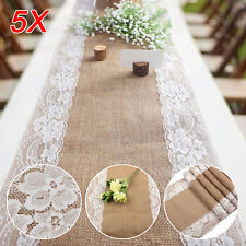 5x Juteband Tischläufer Tischband Rolle aus Jute 30cm breit 275cm lang Hochzeit