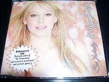 Hilary Duff So Yesterday Australian Enhanced CD Single - Like New