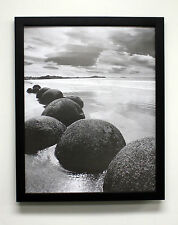 Lot of 6 pcs  16x20  Black wood smooth finish Picture photo post Frame with MAT