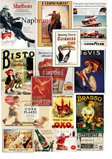 Over 6000 Old Advertising Posters and Vintage Photographs, decoupage, projects