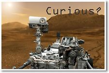 Curious Mars Curiosity 2 NEW EDUCATION CLASSROOM SCIENCE SPACE ASTRONOMY POSTER