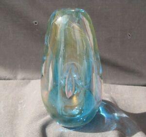 AMAZING 1978 DOMINICK LABINO ART GLASS VASE, MUSEUM QUALITY! STUNNING!