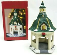 St Nicholas Square Christmas Village Accessories Gazebo Wreaths Snow Sns