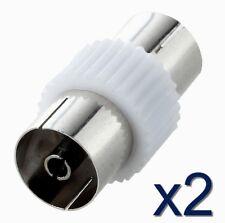 2x Coupleur adaptateur Antenne Femelle PAL Antenna RF TV coaxial Female coupler