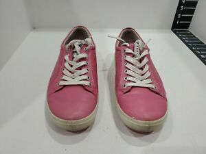 Ecco womens pink leather golf shoes size 39/8.5 M