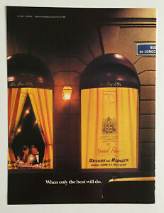 Benson & Hedges Cigarettes French Man Lady Dinner Table ~ Vintage PRINT AD 1983