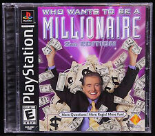 WHO WANTS TO BE A MILLIONAIRE 2nd Edition SONY PlayStation I PS1 Video Game
