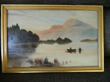 Vintage Oil painting by A.N. Ayrton in gold tone frame - 1909