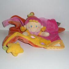 Doudou Poupée Mots d'enfants - Rose Jaune
