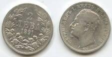 G8911 - Bulgarien 2 Leva 1891 KB KM#14 Prince Ferdinand I.1887-1908 Bulgaria