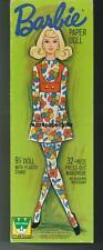 Vintge 1971 Barbie Bloom Zoom Paper Doll ~Whitman~ Laser Repro~Org Sze Uncut Lo