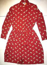 *NWT* JOS.A. BANK WOMENS RUSTY RED DRESS WITH PATTERN SIZE 16 J148 A1