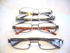 MEN'S READING GLASSES FASHIONABLE ~DURABLE & SPRING HINGED ARMS OPTICAL QUALITY
