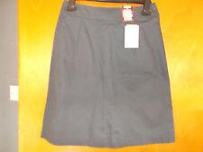 """M&S SkinKind 100%Cotton Adj.Waist School Skirt 4-5yrs W21.5"""" 110cm Grey BNWT"""