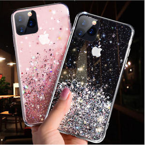 Bling Glitter Case For iPhone 12 Mini Pro Max 11 7 8 XR XS Clear Gel Soft Cover