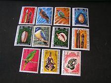 NEW HEBRIDES BRITISH, SCOTT # 155/156(2)+158-166(9) 1972 BIRDS & ARTIFACTS  MNH