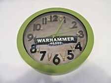 "Warhammer 40k 10"" Wall Clock Custom Painted by Pizzazz with Skulls"