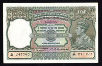 India George VI 100 Rupees ND. 1943 P. 20e C.D.Deshmukh EF Note RARE