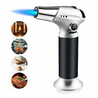 Blow Torch, Refillable Butane Gas Torch Lighter, Adjustable Flame Chefs Blow