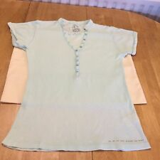 River Island Men's Light Green Fitted Short Sleeve Top Size Small UK Very Nice