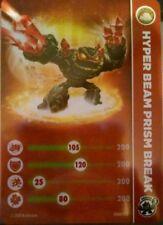 Hyper Beam Prism Break Skylanders Swap Force Stat Card Only!