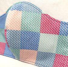 Vineyard Vines Whale Logo Face Mask-Filter Pocket-Handmade-Cotton Plaid Fabric