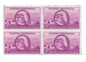 Flordia Statehood Stamps 1943 Mint Block