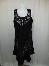 City Chic Plus Size Laser Cut Fit & Flare Dress Large, 20W Black #4004