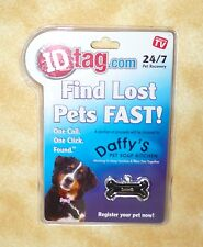 ID tag.com as seen on tv find pets fast tiny black bone pet recovery 24/7