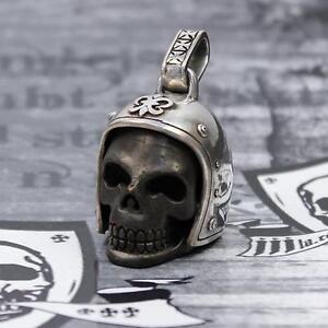 """JJJ LA Ketten Anhänger """"Biker Skull""""  925er Silber/ Bronze black polished Harley"""