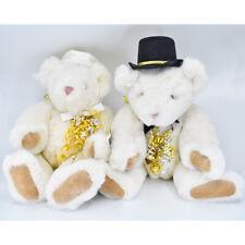 Vermont Teddy Bear Co. Bride & Groom Bears with Tags Wedding / Anniversary 1994