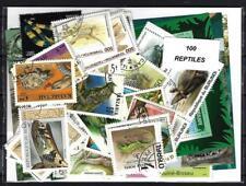 Rettili 100 francobolli diversi timbrati