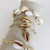 Women Summer Beach Sea Shell Cowrie Bracelet Foot Ankle Bracelets Jewelry HOT-