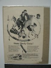 Vintage 1953 Lionel Train Advertisement, Happy Family Circle, B&W