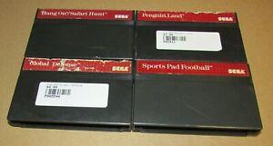 Lot of 4 Sega Master Games Global Defense, Penguin Land, Sports Pad Football