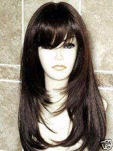 NEWJF161 Pretty Long dark Brown Hair Women Hair wig wigs for women