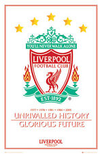 Liverpool FC Crest - Unrivalled History POSTER 61x91cm Glorious Future