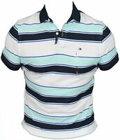 New Tommy Hilfiger Mens Polo Shirt in Beach Glass Colour Size S