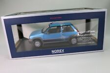 ZD032 NOREV 185207 Voiture 1/18 Renault Super cinq GT Turbo bleu métal Edl