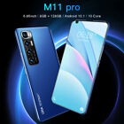 2021 M11 Pro Smartphone Android 10 Core 8g+128gb 6.82'' Mobile Phone 5g Dual Sim